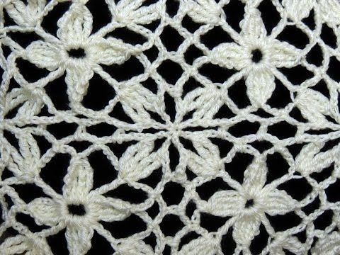 Crochet : Uniones Motivo Cuadrado de 4 petalos - YouTube