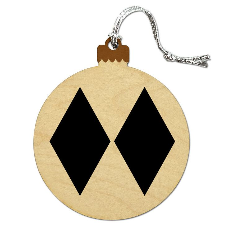 Double Black Diamond Skiing Experts Only Wood Christmas Tree Holiday Ornament