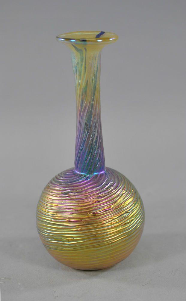 Gold Threaded Art Glass Vase By Robert Held Robert Held Pinterest Thread Art Glass And