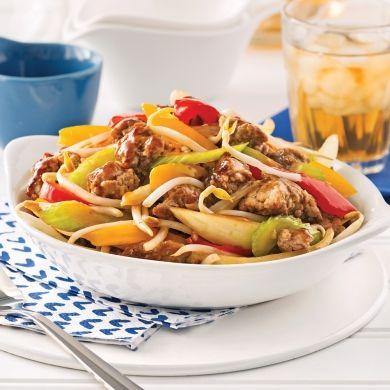 Chop suey au porc haché - Recettes - Cuisine et nutrition - Pratico Pratiques