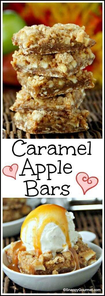 Best Caramel Apple Bars Recipe - easy fall dessert! SnappyGourmet.com