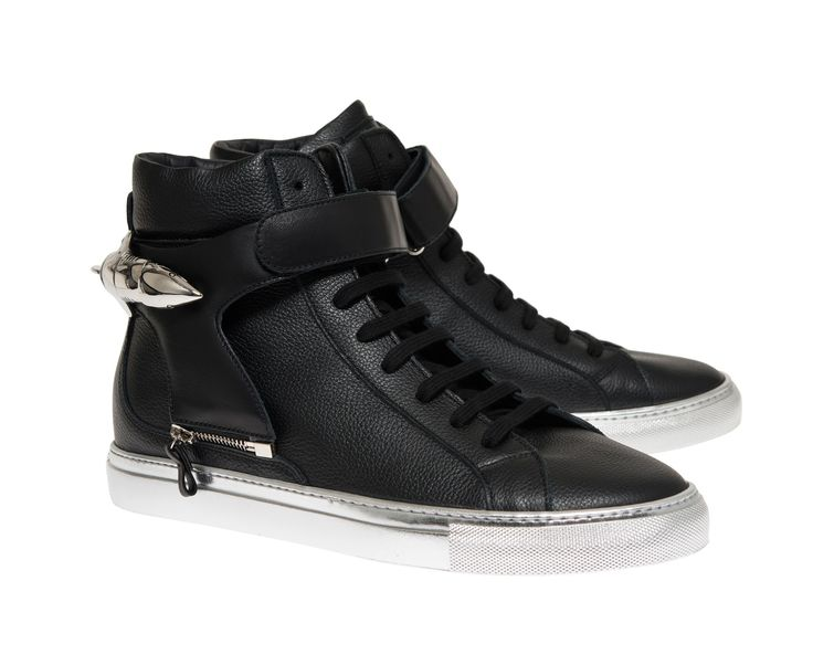 Herry black with silver sole and black strap with shark