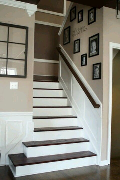 Want these stairs , love waynes coating on walls