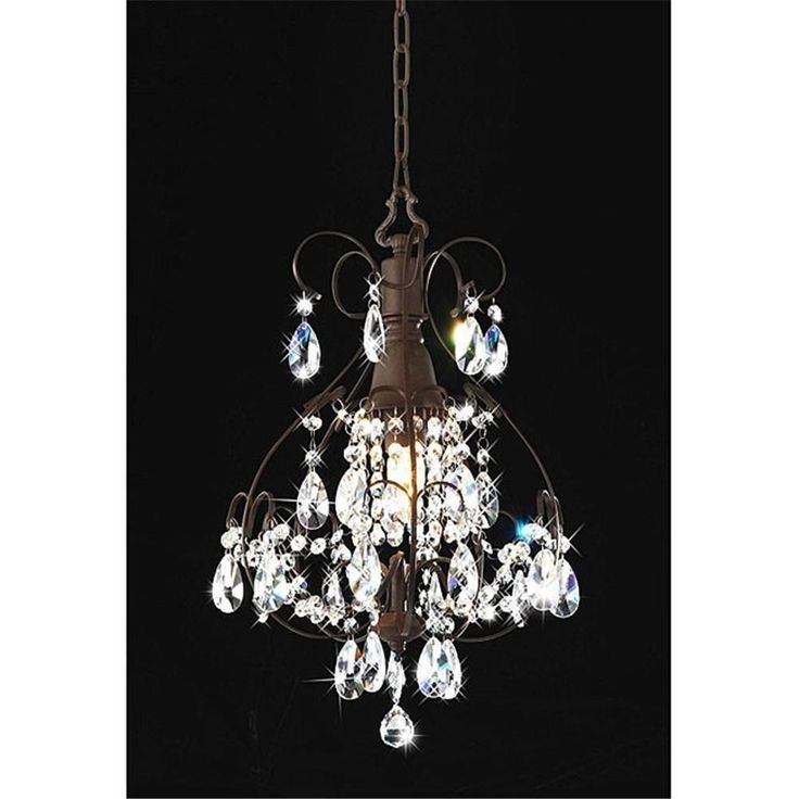 167 best lighting images on pinterest pendant lamp appliques and arch - Sparkling small crystal chandelier designs for any interior room ...