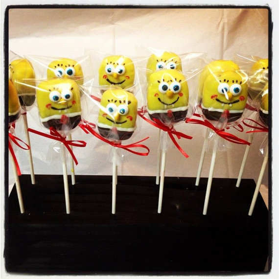 Spongebob Square Pants Cake Pops