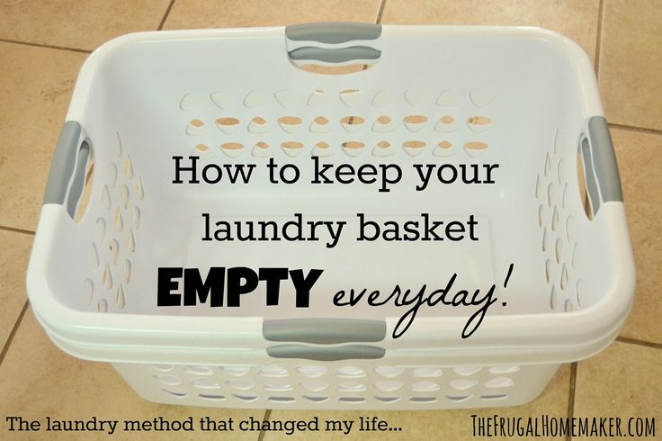 Secret to keeping your laundry basket EMPTY and all your clothes clean EVERY DAY! :)