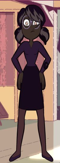 Librarian B. Pearl Dravite wanted to give her a full human makeover, complete with coke bottle glasses and purple penny loafers.