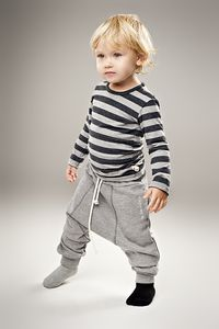 Cozy pants for the little boy (love the mismatched socks)