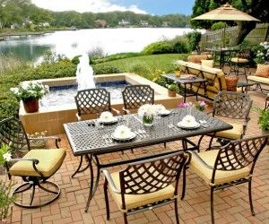 Wicker Furniture Cushions, Outdoor Furniture, Outdoor Dining Set, Patio  Dining Sets, Dining Table, Outdoor Living, Furniture Styles, Furniture  Design, ...