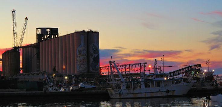 tramonto al porto