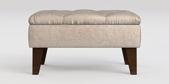 Buy Aldridge Storage Footstool Elegant Velour Light Stone High Tapered - Standard from the Next UK online shop