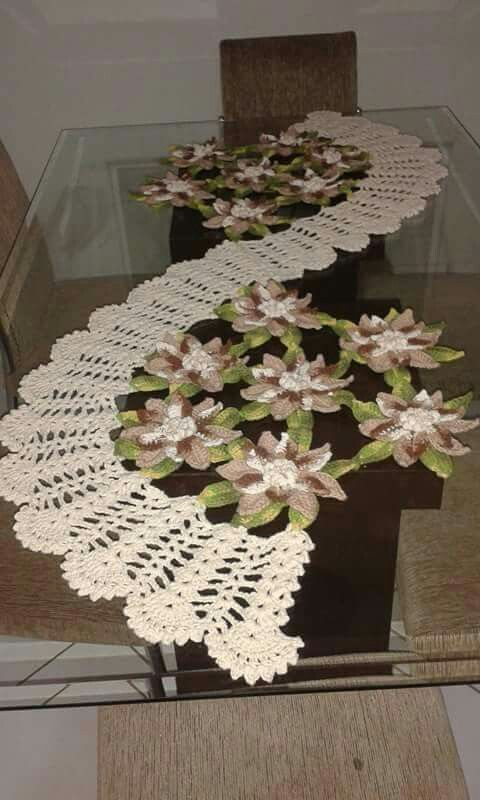 1000 ideas about caminos de mesa tejidos on pinterest for Camino de mesa a crochet