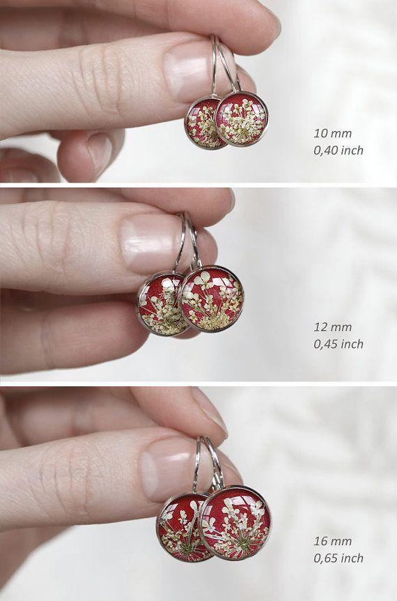 Rode drop oorbellen cadeau voor haar moeder voor haar rode
