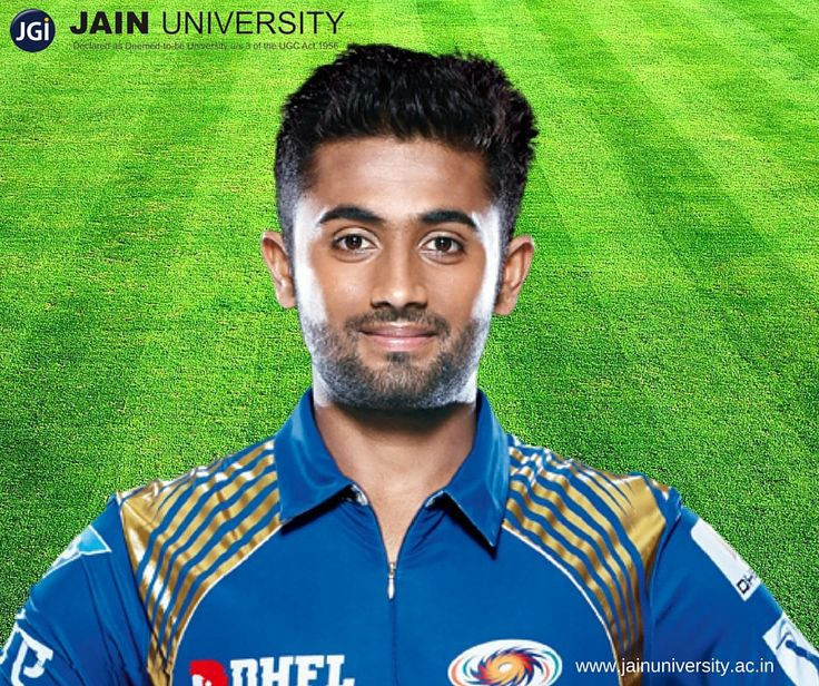 Shreyas Gopal, Jain University alumnus is an Indian Cricketer who played for Mumbai Indians in IPL 2014 is an all rounder talent.