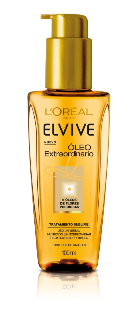 Nuevo Oleo Extraordinario de Elvive: El Óleo Extraordinario de Elvive es el nuevo gesto de belleza que transforma al instante el cabello para sublimarlo.