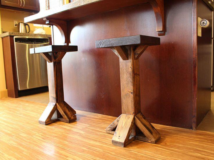 Rustic Counter Stool Bar Stool Farmhouse Chair Kitchen Stool Farm Style Stool