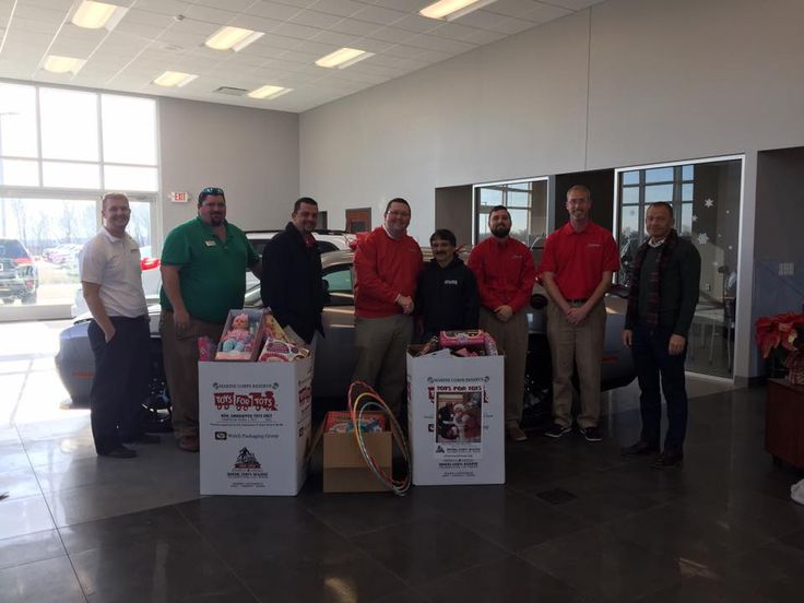 Two overflowing boxes and a third makeshift box collected for Toys for Tots! Thank you to everyone who helped make Christmas special for area kids! From your friends and neighbors at Staunton Chrysler Dodge Jeep Ram where We Love to See You Happy! — with Kody Lietz, Brandon Fisher, Tristan Wentler, Jeff Schoen, Jim Wyatt and Mason Kahle.