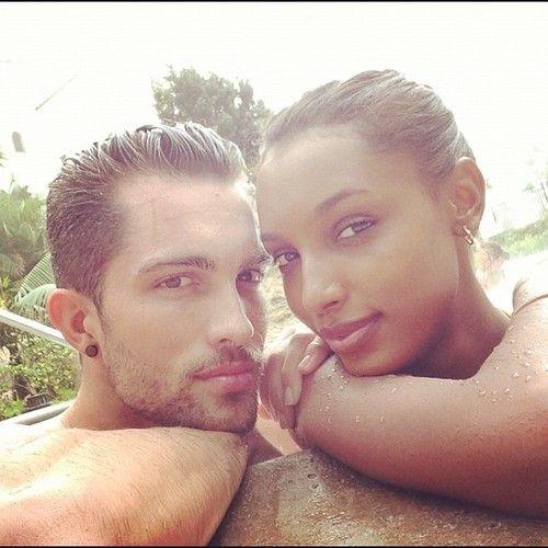 Female Models — Jasmine Tookes and her boyfriend, Tobias Sorensen