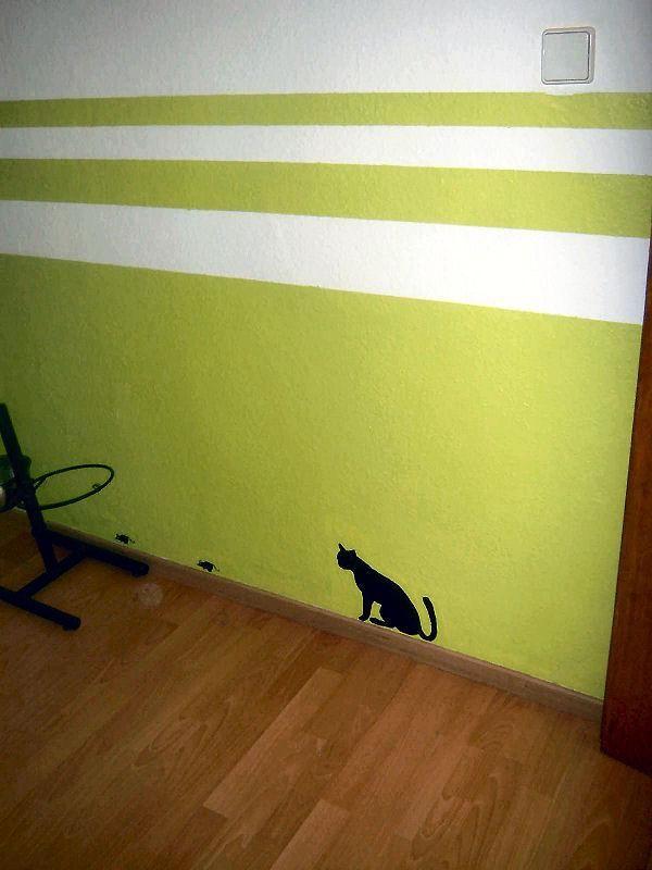 die besten 25 wandgestaltung streifen ideen auf pinterest wandgestaltung streifen ideen wand. Black Bedroom Furniture Sets. Home Design Ideas