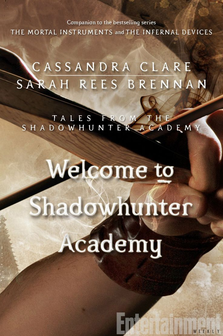 "Back in October, EW announced that Cassandra Clare would launch a new e-series with Sarah Rees Brennan, Robin Wasserman, and Maureen Johnson. The new series is almost here: Tales from the Shadowhunter Academy begins next week (Feb. 17) with the first novella titled Welcome to Shadowhunter Academy, and we've got a first look at the cover. (Click ""enlarge"" up top to see the full image.)"