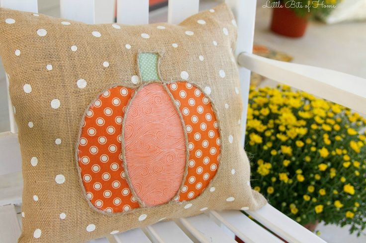 Little Bits of Home: DIY No-Sew Pumpkin Pillow