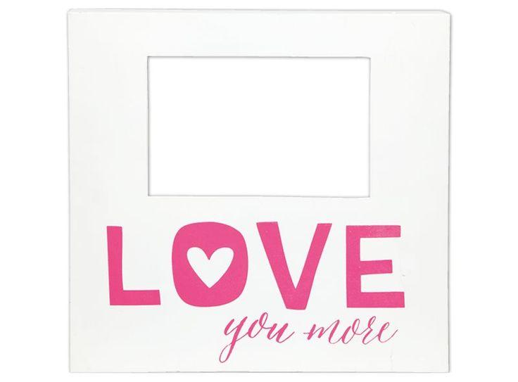 Een persoonlijke foto doet het altijd goed als valentijnscadeau, vooral wanneer hij in deze fotolijst gestoken wordt.
