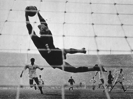 The buck stops here. Lev Yashin - Considered the best soccer goalkeeper ever.