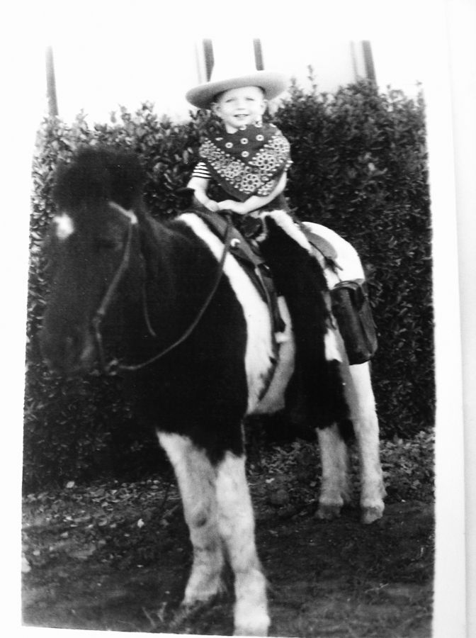 George Doak Rodeo Clown First Horse Old Tyme Rodeo