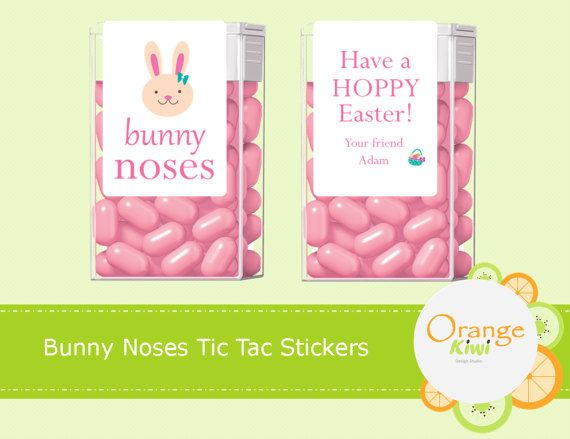Bunny Noses Tic Tac Labels Easter Tic Tac Stickers Party