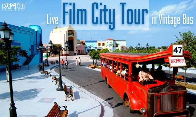 Live Film City tour in Vintage bus gives the ultimate feel of the celluloid journey as you tour around the Live Film Sets, Shooting Locales, Mythological Sets, Aesthetically designed Butterfly Park, Exotic Birds Park, Thematic Gardens, Mesmerizing Fountains & Many More.