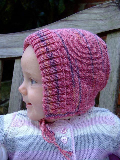 Ribbed #knit #bonnet #pattern