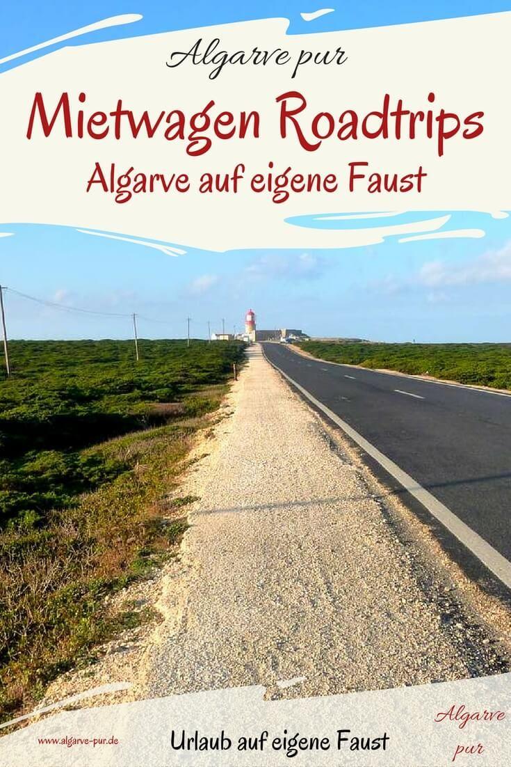 Mit dem Mietwagen die Algarve entdecken!Mietwagen: Ein Mietwagen ist eine feine Sache, um die Algarve auf eigenen Faust zu entdecken. Ich zeige dir jetzt Roadtrips durch die Algarve für deinen nächsten Portugal Urlaub.
