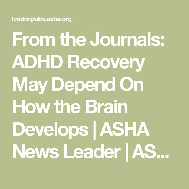 Journal articles on adhd