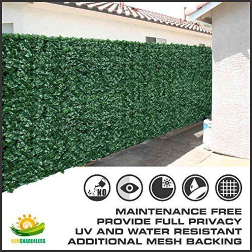 "39""tall X 117"" Long Artificial Ivy Leaf Privacy Fence Screen Decoration Panels #NotApplicable"