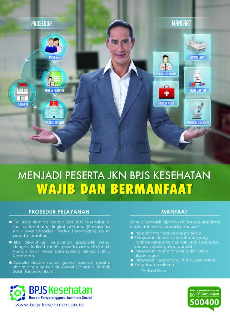 Poster Publikasi Prosedur dan Manfaat BPJS Kesehatan