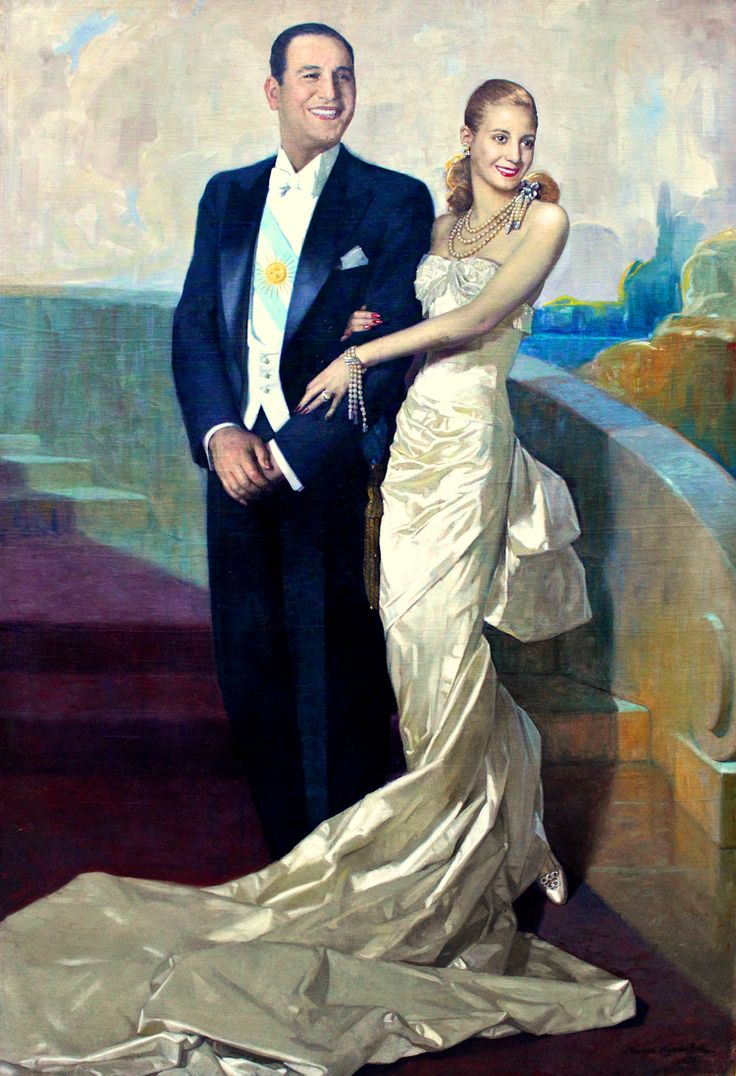 The official portrait of Argentina's President and First Lady, 1948 via Gods and Foolish Grandeur