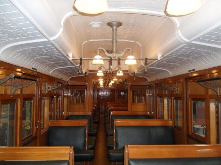 Original Melbourne 'red rattler' train interior