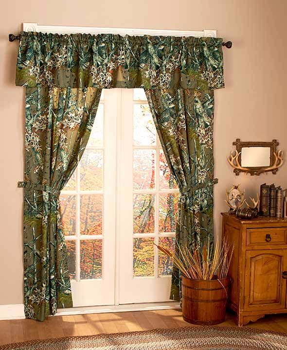 Window curtains lodges and camo on pinterest