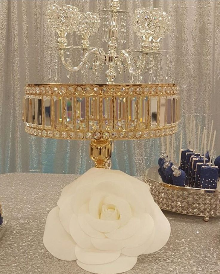 Gold cake stand **this elegant piece will stand out at any party.
