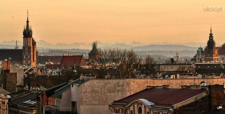 if you have very nice weather in krakow you even can see the tatra mountains - gorgeous view