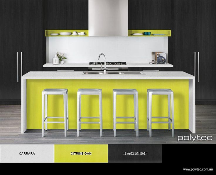 Very cool kitchen in polytec citrene oak and black wenge - Design your own virtual bathroom ...