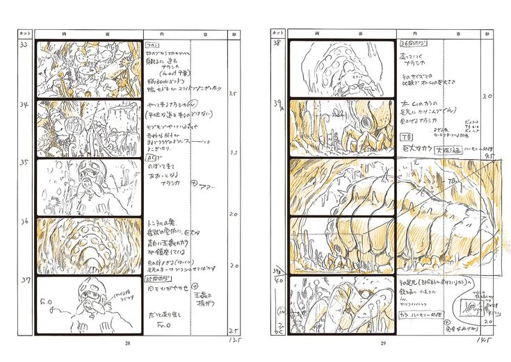 Best Anime Storyboard Images On   Storyboard Animation