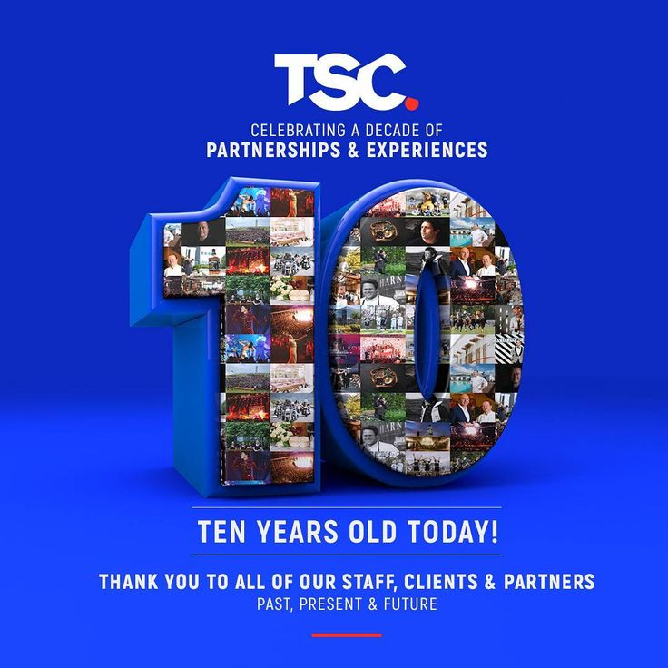 TSC IS TEN YEARS OLD TODAY! Thank you to all our clients and partners for supporting us and inspiring us every day - and most of all, thank you to all our team for being the best people to work with and share the journey with, you make everything possible! #tenth #anniversary #team #partnerships #experiences #sport #music #retail #food #beverages http://w3food.com/ipost/1504622213939893928/?code=BThfe6HDJao