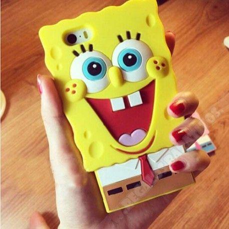 Nueva y divertida carcasa para tu iPhone 6 diseño 3D silicona bob esponja