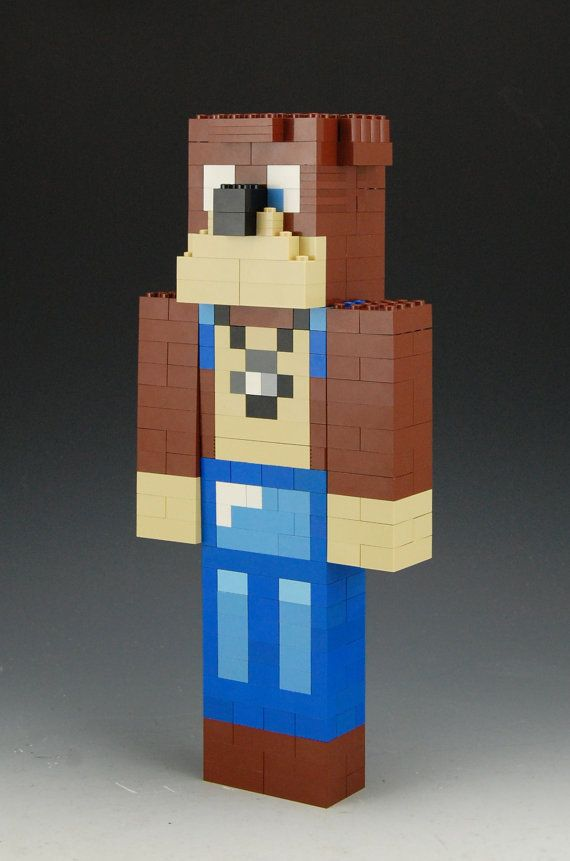 Lego Minecraft L for Leeeeee x by BrickBum on Etsy