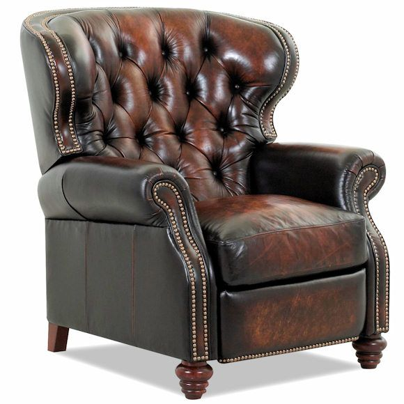 My Recliner In The Man Cave Marquis Tufted Leather Recliner Marty Pinterest Caves Leather