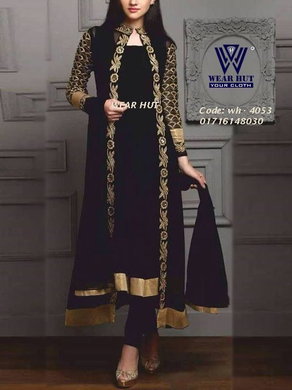 44b7a2ad20 Black long koty style dress /cloth women's online shopping for embroidery  koti |coti design