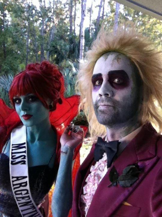 DIY Beetlejuice Miss Argentina Halloween Costume Idea 4