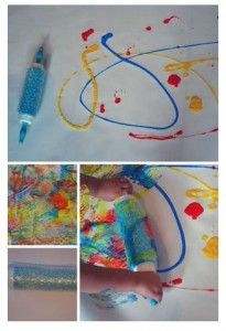 OT/PT Activity of the Week: Bubble Wrap Roller Painting-pinned by @PediaStaff – Please Visit ht.ly/63sNtfor all our pediatric therapy pins