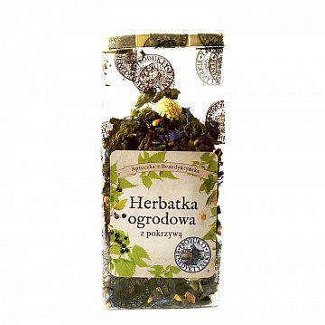 Herbata ogrodowa z pokrzywą - Produkty Benedyktyńskie    Herbata z pokrzywą i czarną porzeczką cieszy się nie tylko właściwościami zdrowotnymi, ale także ciekawym walorem smakowym, dzięki suszonym owocom czarnej porzeczk...